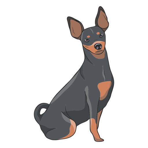 Ilustración de perro pinscher