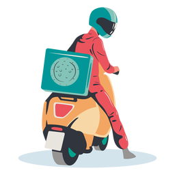 Pizza delivery scooter