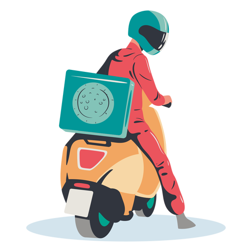 Pizza delivery scooter Transparent PNG