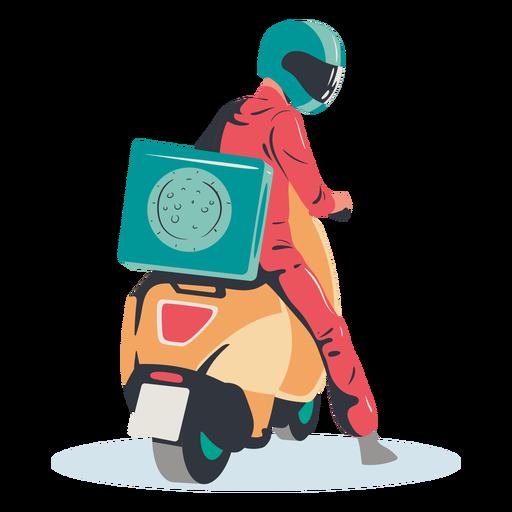 Scooter de entrega de pizza