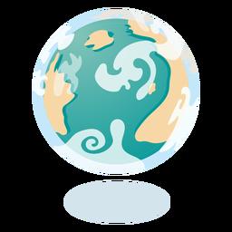 Planeta tierra nubes