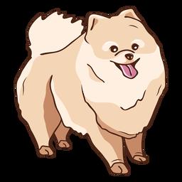 Ilustración de perro Pomerania