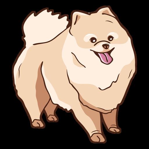 Ilustraci?n de perro pomerania