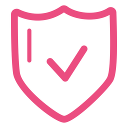 Protection shield icon stroke pink