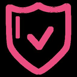 Rosa de ícone de escudo de proteção rosa