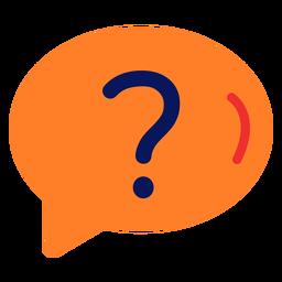 Icono de pregunta plana