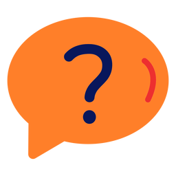 Question icon flat