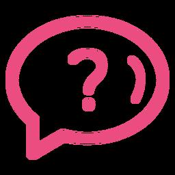 Question icon stroke