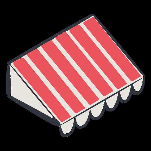Toldo rojo isométrico