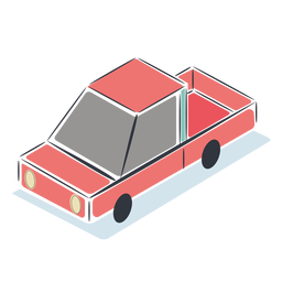 Red car isometric