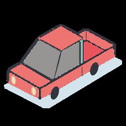 Rotes Auto isometrisch
