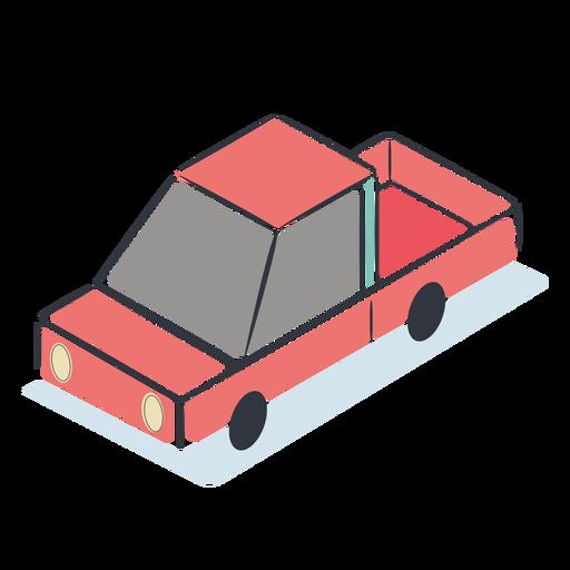Isométrico coche rojo Transparent PNG
