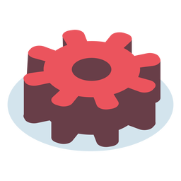 Isométrico de engranaje rojo