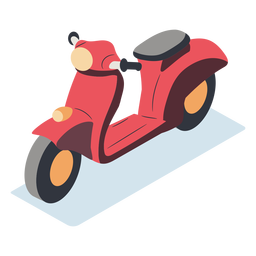 Isométrica motocicleta roja