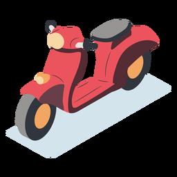 Motocicleta vermelha isométrica