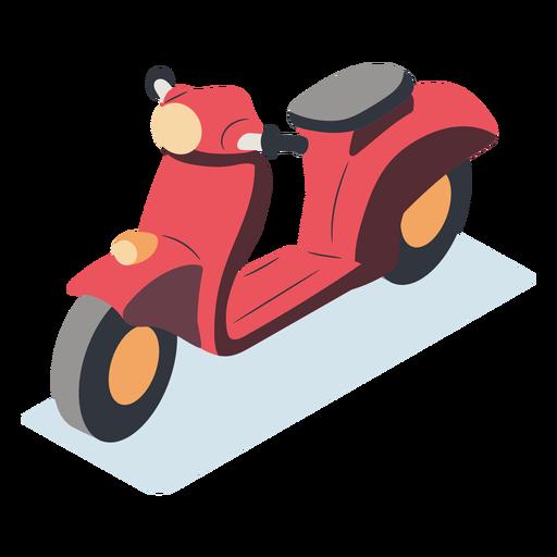 Isométrica de motocicleta vermelha
