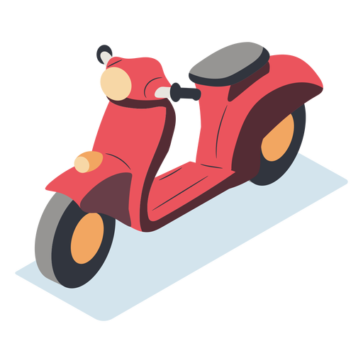 Red motorcycle isometric