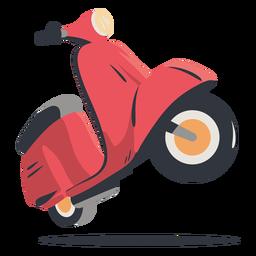 Entrega de scooter vermelha
