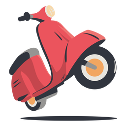 Red scooter delivery