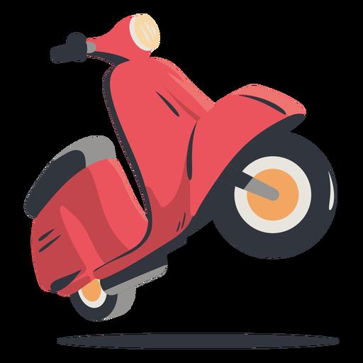 Entrega de scooter rojo Transparent PNG