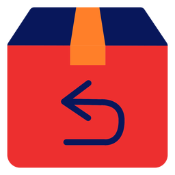 Icono de devolución de envío