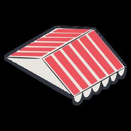Toldo de techo isometrico