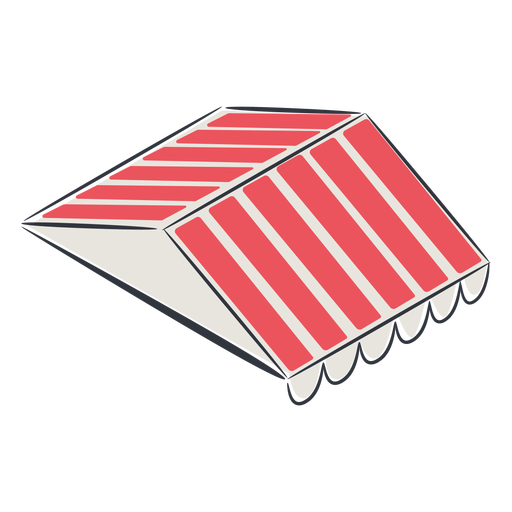 Roof awning isometric