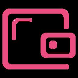Icono de caja fuerte de seguridad trazo rosa
