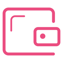 Security safe icon stroke pink