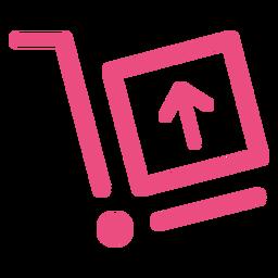 Icono de envío trazo rosa