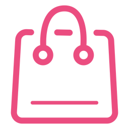 Icono de bolsa de compras trazo rosa