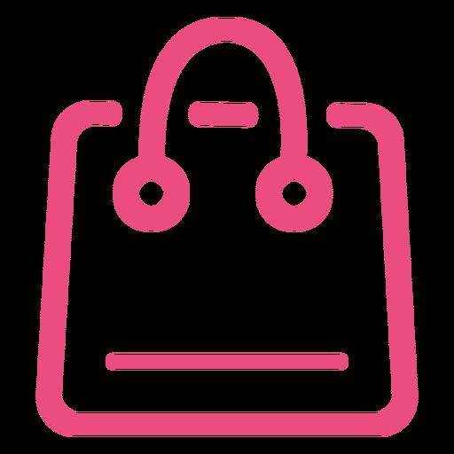 Rosa de golpe de ícone de sacola de compras Transparent PNG