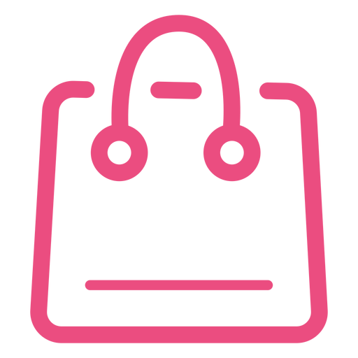 Shopping bag icon stroke pink Transparent PNG