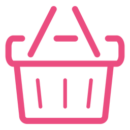 Shopping basket icon stroke pink
