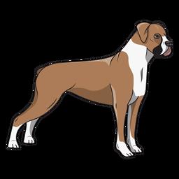 Ilustração de cachorro boxer lateral
