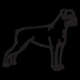 Side boxer dog stroke