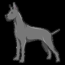 Side great dane dog illustration