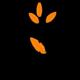 Línea de planta de interior simple