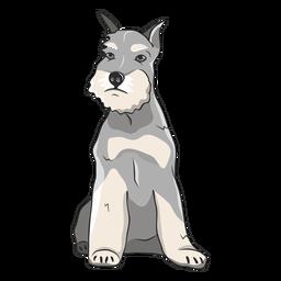 Ilustración de perro schnauzer sentado