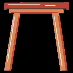 Dibujado a mano pequeña mesa de madera