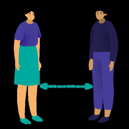 Personajes de distanciamiento social Transparent PNG