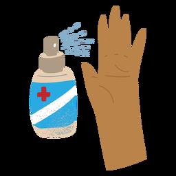 Spray alcohol textured