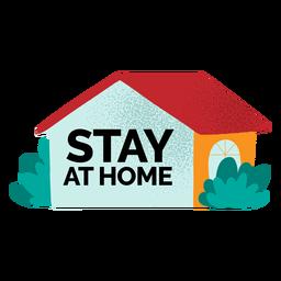 Fique em casa texturizado