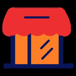 Icono de tienda plano