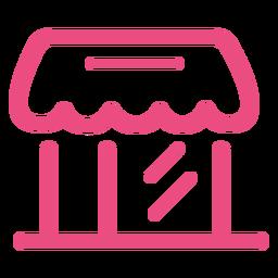 Trazo de icono de tienda