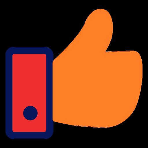 Ícone de polegar para cima