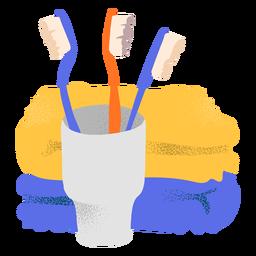 Cepillos de dientes con textura