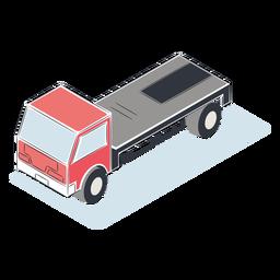 Camión sin carga isométrica
