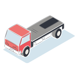 Truck without cargo isometric