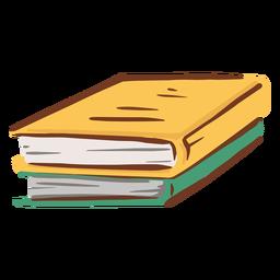 Dos libros simples planos